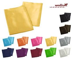 Aiking Home 2 Pieces of Colorful Shiny Satin King Size Pillo