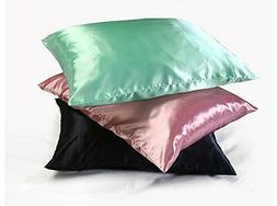 Comfortable Soft Silky Satin Pillow Case With Zipper Great F