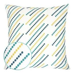 Constantine Blue and Yellow Striped Square Cushion Pillow Ca
