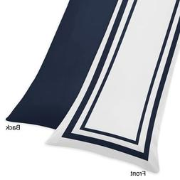 Sweet Jojo Designs Contemporary White and Navy Blue Modern H