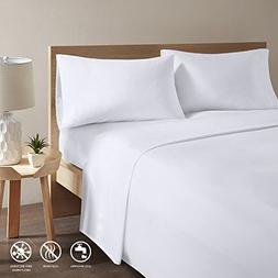 Copper Infused Bed Sheets - White Queen Size Sheets Set With