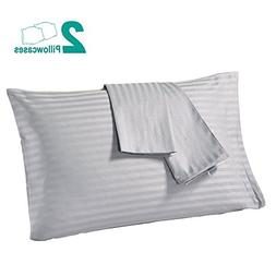 Jepeak 400 Thread Count 100% Cotton Pillow Cases, Soft Comfo