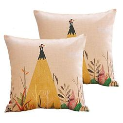 sykting Couch Pillow Cases 18 x 18 Throw Pillow Covers Set o