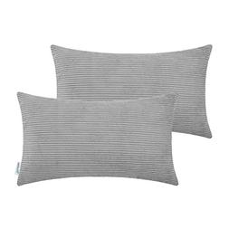 Pack of 2 CaliTime Cozy Bolster Pillow Covers Cases for Couc