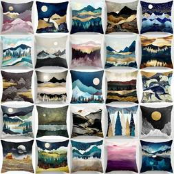 Cushion Cover Landscape Abstract Home Decor 2-Sided Soft Thr