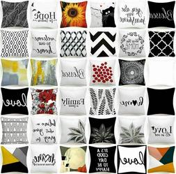 Cushion COVER White Black Soft Double-Sided Decorative Throw