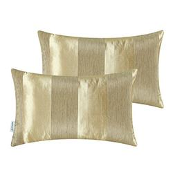 Pack of 2 CaliTime Cushion Covers Bolster Pillow Cases Shell