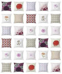 Dahlia Throw Pillow Cases Cushion Covers by Ambesonne Home A
