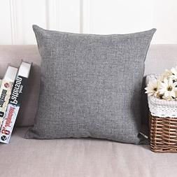 decorative linen square throw pillow