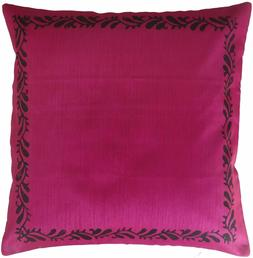 Decorative Cushion Covers Pillow Case Polyester Dark Pink Bl