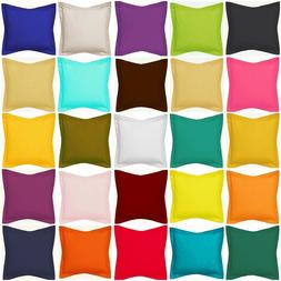 Decorative Pillow Case / Cushion Cover Flange Cotton Solid C