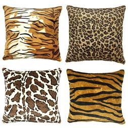 YOUR SMILE Set of 4 Decorative Throw Pillow Case Cushion Cov