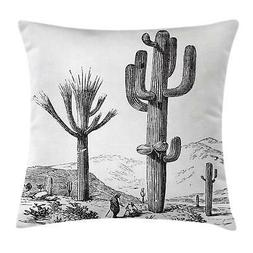Desert Cactus Throw Pillow Cases Cushion Covers Ambesonne Ho