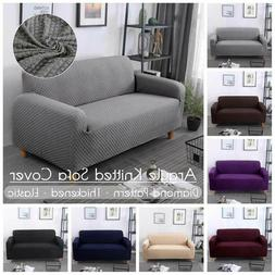 Diamond Pattern Elastic Sofa Chair Cover Pillow Case Soft So