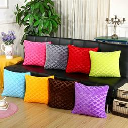 Diamond Pattern Soft Touch Cushion Covers Cases Decorative S