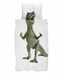 Dinosaur Duvet Cover Set with Matching Pillowcase by SNURK -