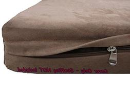 Dogbed4less DIY Pet Bed Pillow Brown Microsuede Duvet Cover