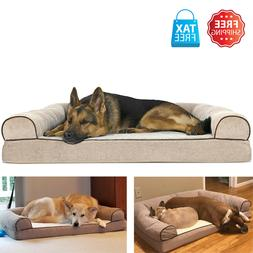 Dog Couch - Sofa Pet Bed for Dogs and Cats - Quilted Navy -