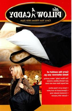 Travel Double Pillow Caddy Black Carrying Case Cushion Holde