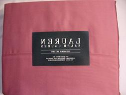 RALPH LAUREN Dunham Sateen 300 TC Red Slate Sheet Set, Queen