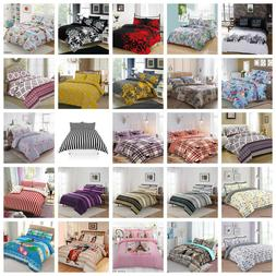 Duvet Cover with Pillow Case Quilt Cover Bedding Set Single