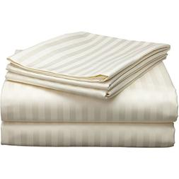 New  100% Egyptian Cotton 4-Pieces Suite Room Sheet Set Cal-