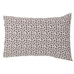 ENGLISH COTTAGE 2 PC SET STANDARD PILLOW CASES RED / CREAM F
