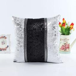 New Thick Black White Splice Throw Pillow Case Cushion Cover