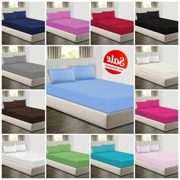 Extra Deep 25cm Fitted Sheets Bed Sheets & Pillow Cases Sing