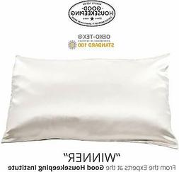 Fishers Finery 25mm 100% Pure Mulberry Silk Pillowcase Good