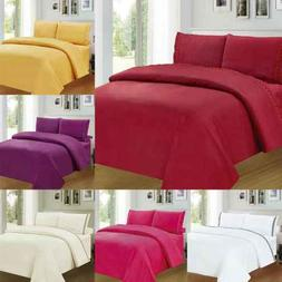 Fitted Bed Sheets Cotton & Poly Solid Single Double King Siz