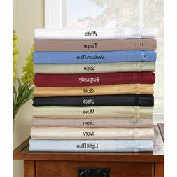 Fitted Sheet 2 PC Pillow Case Full XXL 1000 Thread Count Sof