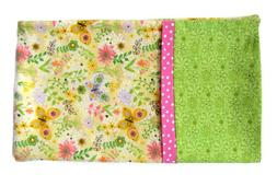 Flannel Pillowcase Butterfly and Blossoms Standard Or Queen