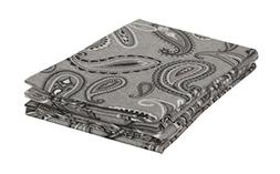 MARRIKAS FLANNEL PillowCase Pair  STANDARD GREY PAISLEY