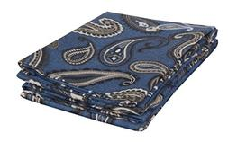 MARRIKAS FLANNEL PillowCase Pair  STANDARD NAVY PAISLEY