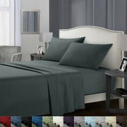 Flat Fitted Bed Sheets Set Deep Pocket Twin Full King Queen