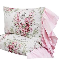 Queen's House Floral Print Pillowcases Shams Pillow Covers Q