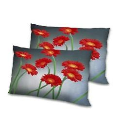 Floral Printed Pillow Cover Set Decorative Rectangular Throw