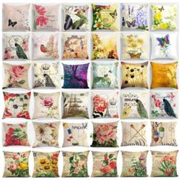 Flower Pillow Cover Floral Pillow Case Sofa Couch Cushion Co