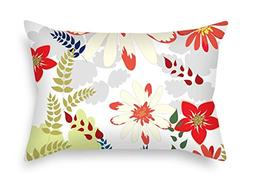 Flower Throw Pillow Case 16 X 24 Inches / 40 By 60 Cm Best C