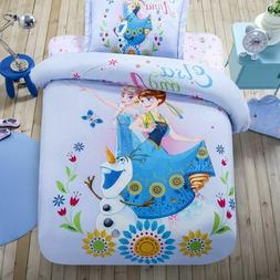 Frozen Duvet Cover Flat Sheet Pillow Cases Cotton Quilt Cove