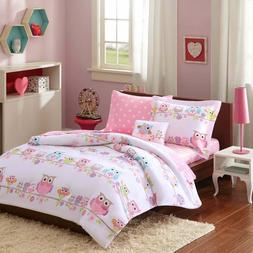 Full Size Girls Soft Mi Zone Kids Pink White Owl Complete Be