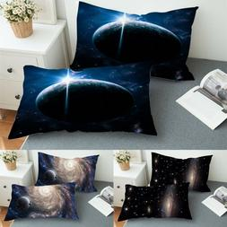 Galaxy Theme Pillowcases 3D Print Pillow Cover Set Of 2 King