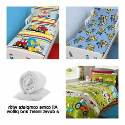 Girls and Boys Character and Generic Toddler Bedding Bundle