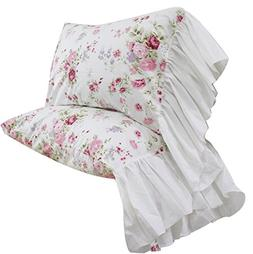 Queen's House Girls Pillowcases Shams King Set of 2-Style L