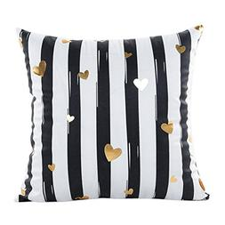 Napoo Hot Gold Foil Printing Square Pillow Case Sofa Waist T