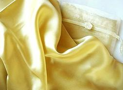 Set of 2 Gold Luxury 100% Silk Pillowcase for Hair & Facial