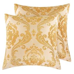 Yeadous Gold throw pillows covers,  toss decorative square p