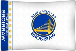 Golden State Warriors Pillow Case Microfiber White NBA Baske