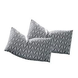 VClife Gray White Geometric Wave Pattern Pillow Cases, Set o